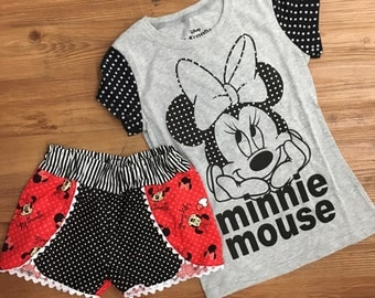 Minnie Mouse shirt and shorts set