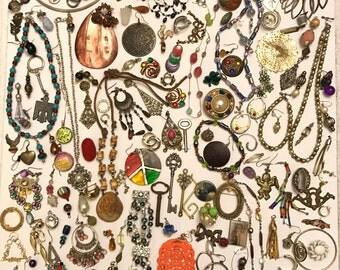 Destash Vintage and Newer Junk Jewelry Craft Jewelry Vintage Jewelry Lot