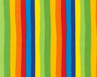 Celebrate Seuss, The Cat in The Hat, Rainbow  Stripe in Celebration, by Dr Seuss from Robert Kaufman, yard