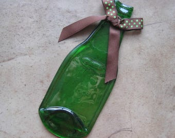 Beer Bottle Spoon Rest, Spoon Rest, Recycled Bottle Spoon Rest, Holiday Gift,Recycled Bottle Gift, Recycled Beer Bottle Gift,Recycled Bottle