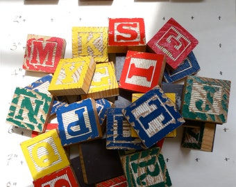 Wooden Alphabet Block Magnets