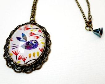 Short necklace, Blue Bird RC008