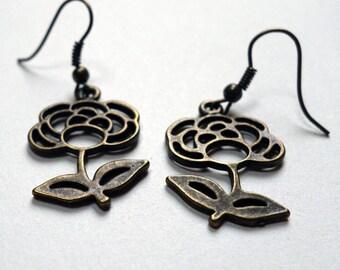 Grisette roses earrings