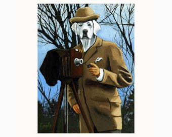 Great Dane Dog Portrait PHOTOGRAPHER anthropomorphic fantasy Print from original oil painting
