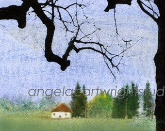 Cottage In The Woods - print
