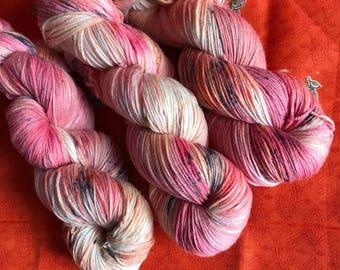 Hand-dyed yarn, Indie dyed yarn, hand dyed yarn AUTUMN WATERCOLOR -- ready to ship -- Times Square sock weight merino/nylon yarn