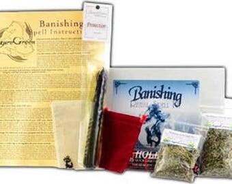 Banishing Spell Boxed Ritual Kit-Spells for Love, Spells that work, spell kits, altar kits, witchcraft spells, witch spells,