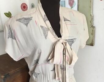 SALE Vintage Swing Dress, 1970's Dress, 1940's Style