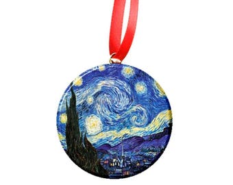 "Van Gogh Starry Night 2.25"" Ornament"