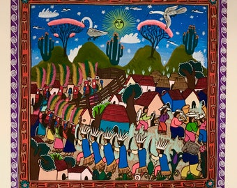 DAY, Mexican Folk Art Painting
