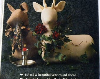 Christmas in July Sewing Pattern Forest Prince Deer Centerpiece Gooseberry Hill  Uncut Complete