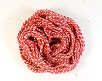 candy cane   ... handspun yarn set, weaving creative yarn bundle, hand spun, hand dyed yarn, handspun art yarn