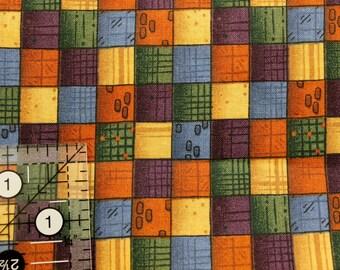 "Fall patchwork  Leslie Beck 44""-45"" wide 100% by Cranston Printworks"