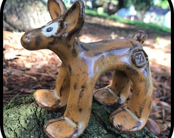 Handmade ceramic dog