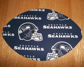 Mouse Pad, NFL, Seattle Seahawks, Mouse Pads, Mousepad, Desk Accessories, Mouse Mat, Office Decor, Football Shape, Computer Mouse Pad, Gift