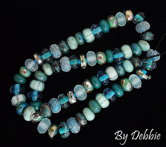 DSG Beads~Artisan Debbie Sanders Handmade Lampwork Glass Beads~Water Fall~Made To Order