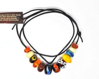 Handmade beads. Multicoloured bead set /necklace/bracelet for vikings