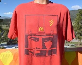 vintage 90s t-shirt NFL football McDONALD'S helmet team XL Large red
