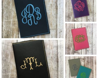 Personalized passport covers, Personalized passport holders, Personalized passport cases, Custom Monogram Faux Leather Travel Accessory Gift