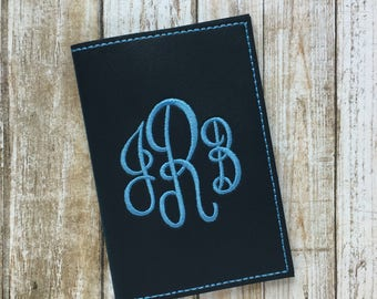 Faux Leather Passport Cover - Personalized Custom Passport Cover - Passport Holder for Women - Monogram Passport Cover- Travel Gift for Her
