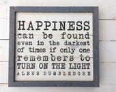 Harry Potter Graduation Gift | Dumbledore Happiness Quote Sign | Shiplap Wood Sign | Harry Potter Decor | Wood Sign | HP Decor | Dumbledore
