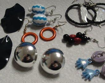 Funky lot of pierced earrings