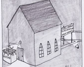 Church Victims Dumpster Cartoon