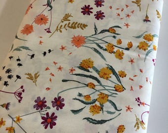 Boho Fabric, Floral fabric, Floral Stripe Fabric, Fusions Spice by Art Gallery, Blossom Swale Spices- You Choose the Cut