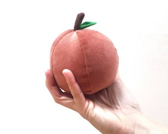 Peach Ball - Tiny Velvet Fruit Plush
