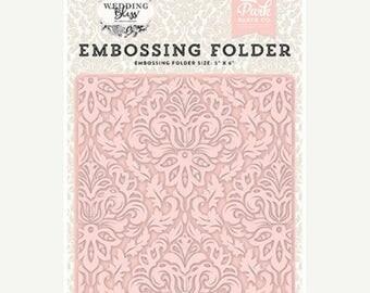 ON SALE Echo Park Wedding Bliss Dainty Damask Embossing Folder