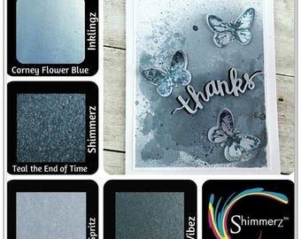 NOW ON SALE Shimmerz Tonez Celestial Blue Set of Spritz and Paints, 4 pc