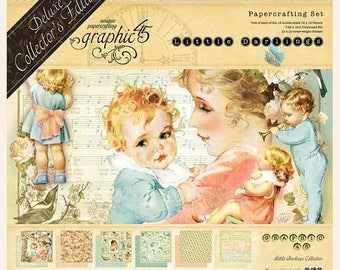 NOW ON SALE Preorder Graphic 45 Little Darlings 12x12 Deluxe Collectors Edition Paper Pack