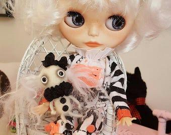 Custom Blythe doll by Adorably Mini articulated body, OOAK eye chips, sleep eyes