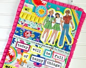 Today Will be Full of Happy Things Collection, Print #4 -- Mixed Media Wall Art
