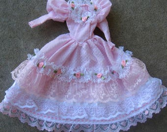 Barbie Clothes Pink Rose Dress