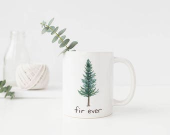 Douglas Fir Mug / Ceramic Mug / Oregon Mug / Evergreen Tree Mug / Pacific Northwest Mug / Camping Mug / Oregon Gifts / Mug / Portland Gifts