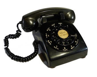 Black Rotary Dial Vintage Western Electric Desktop Telephone