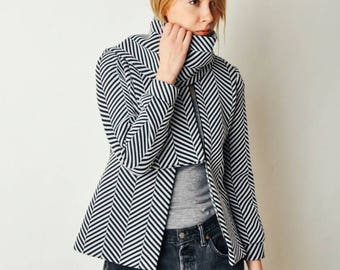 ON SALE Vintage Malcolm Charles Op Art Jacket