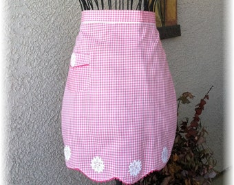 PINK GINGHAM with WHITE Accents