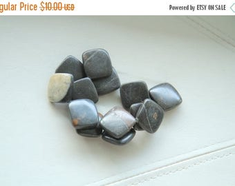 """End of Summer CLEARANCE 26x25 mm portoro square  diamond marble  loose gemstone beads, 15"""" strand"""
