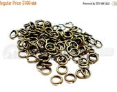 40% Retirement Closeout - Jump Rings, Antiqued Brass, 5mm, 21 Gauge, 100 Pieces, 5RI04-0003