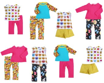 Fits like American Girl Doll Clothes - Emoji / Emoticon Gift Set - Free Gift Wrap