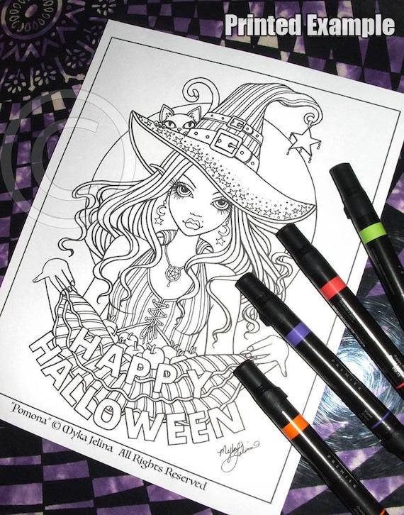 Digital download coloring page pomona myka jelina for Myka jelina coloring pages