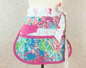 Let's Cha Cha Sassy Teacher Apron, Half Apron with 6-8 Pockets, Misses, Plus Sizes, Vendors, Gardening, Utility, Teachers, Crafts