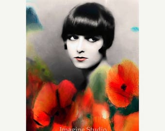 HUGE SUMMER SALE 40% off Art, Photography, Portrait, Woman Portrait,  Fine Art Print, Giclee Archival Print, Photomontage, Collage, Painted