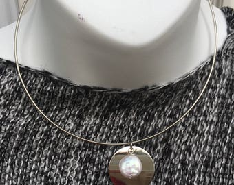 Freshwater Coin Pearl Fashion Necklace