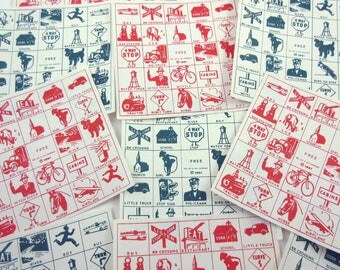 Vintage 1950s Travel Game Zit Zingo Cards Set of 12