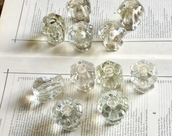 Antique Glass Knobs Cabinet Furniture Hardware