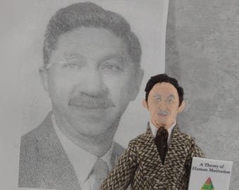 Abraham Maslow Doll Miniature Psychology Art Famous Psychiatrist