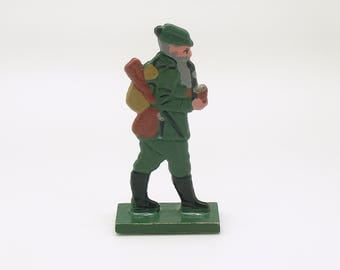 Antique Miniature Wood Figurine Erzgebirge Flachfiguren Germany Flat Figurine